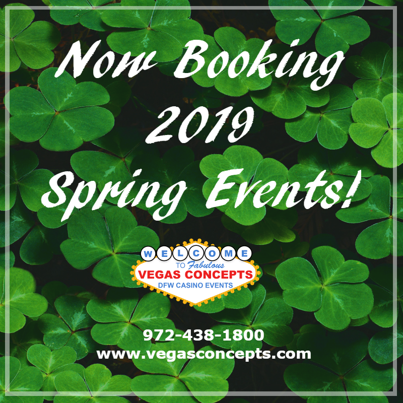 Now Booking 2019 Spring Events
